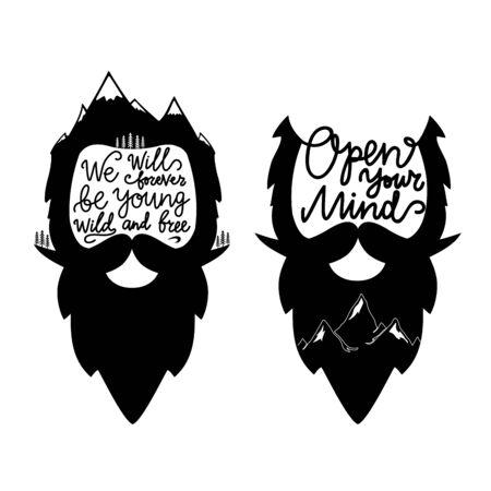 Inspirational typography posters, men apparel print design