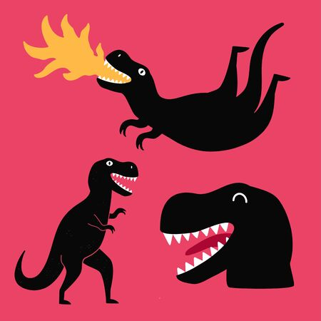 Funny apparel print design with dinosaurs