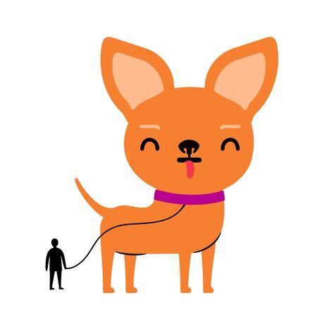 Funny print design with pet Illustration