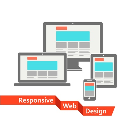 web pages: Responsive web design Illustration