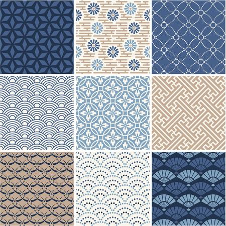 pattern seamless: Japan nahtlose Muster Sammlung