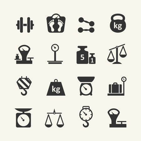 weighing scale: Web icon set - scales, weighing, weight, balance