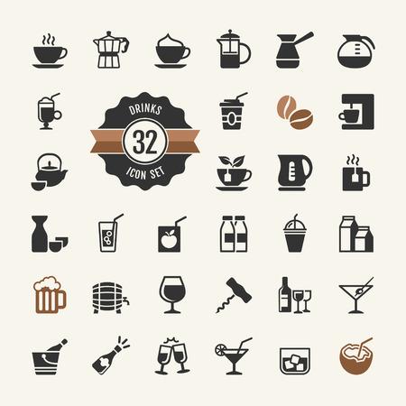 botella de whisky: Básico - Beber conjunto de vectores iconos
