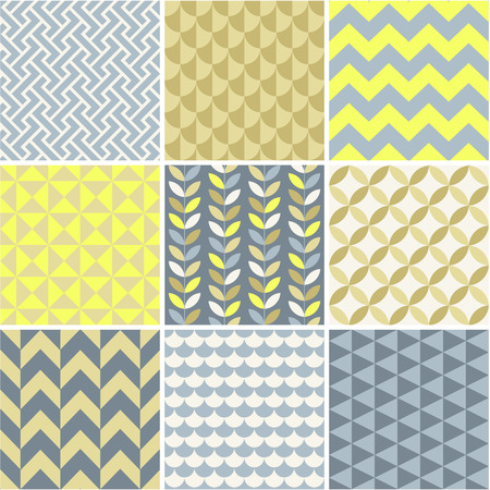 grey scale:  Seamless patterns set - simple geometry  Seamless patterns set - simple geometry