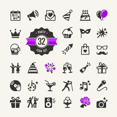 Web icon set Party, Birthday, celebration Vector