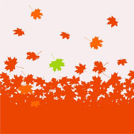 background herfst: Herfst achtergrond - esdoorn bladeren Stock Illustratie