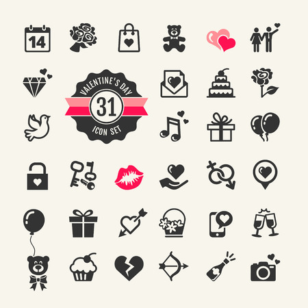 Web icon set - Valentine s dag