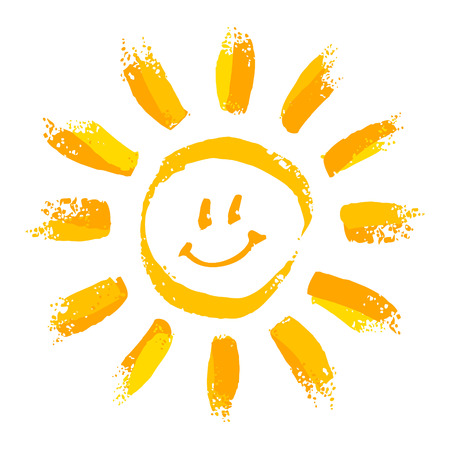 happy face: Smiling sun