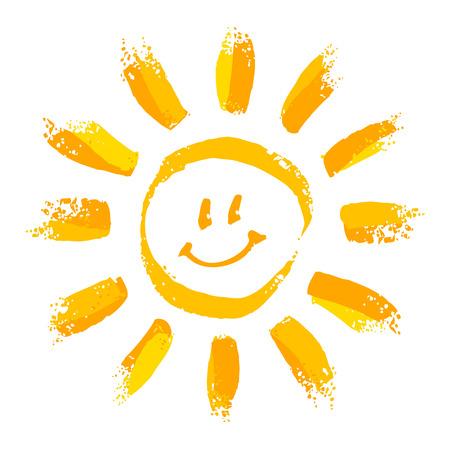 dessin: Soleil souriant Illustration