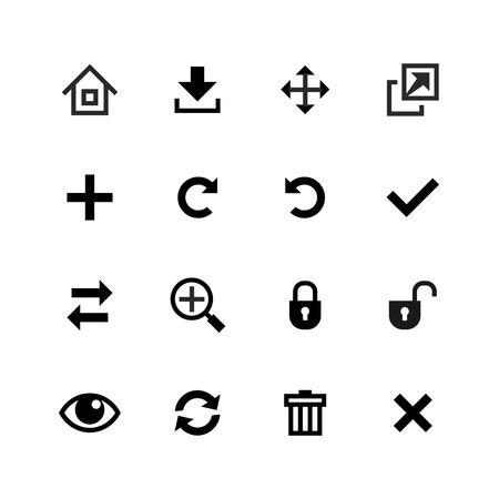 Web icons set  Toolbar, edit and customize