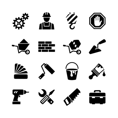 web icons set - building, construction, repair and decoration