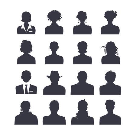bonhomme blanc: Web ic�ne ensemble de personnes avatars