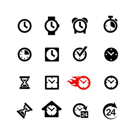 Web icons set  Clock, time