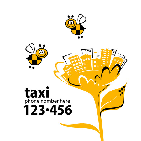 artoon: Banner for taxi service with your phone number
