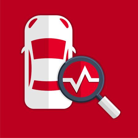 Car diagnostics symbol  イラスト・ベクター素材