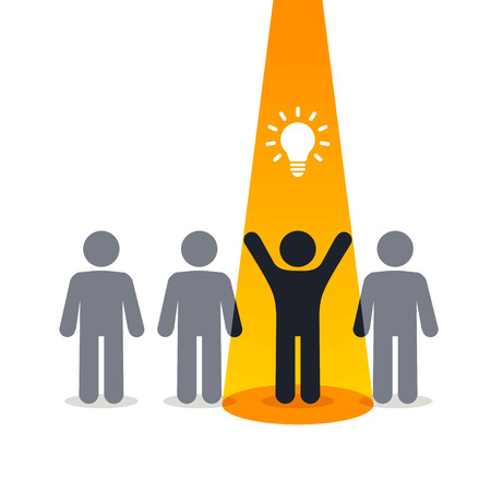 insight: New idea - pictogram people Illustration