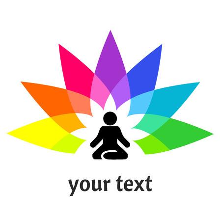 Yoga Mann im Lotussitz