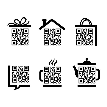 qrcode: QR-Code. Set of pictograms for website