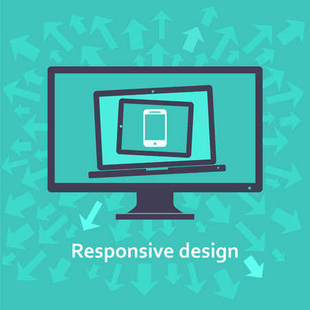web site design: Responsive web design Illustration