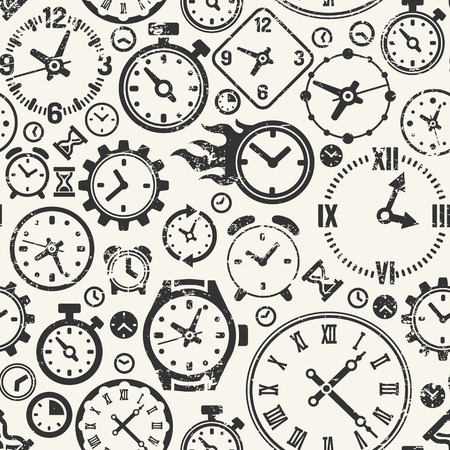 Seamless background with clocks Stock Vector - 32148706