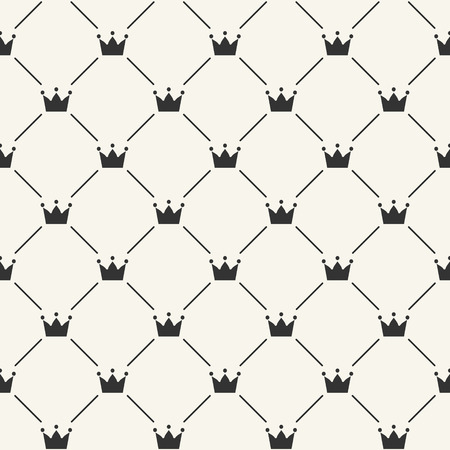 Simple seamless vector pattern with crown Vector