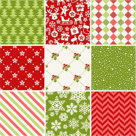 pattern sans soudure: Ensemble de motifs de No�l sans soudure