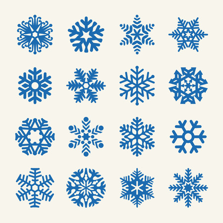 snow crystals: Snowflakes collection