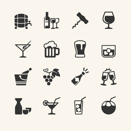 pictogramm: Alcohol drink - icon set