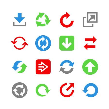 Arrows web icons. Icon set