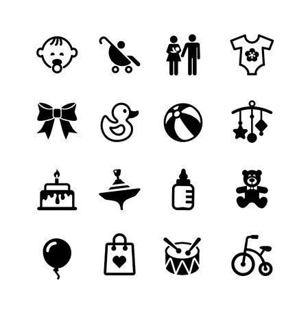 Web icon set. Baby Illustration