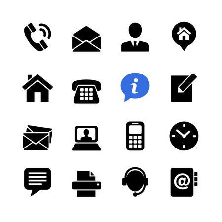 Zestaw ikon komunikacji internetowej: skontaktuj się z nami