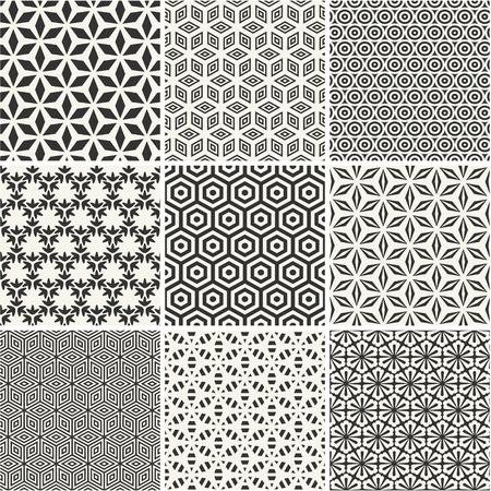원활한 육각형 패턴 모음 일러스트