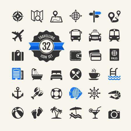 pool symbol: Web icon set - travel, vocation and inbound tourism
