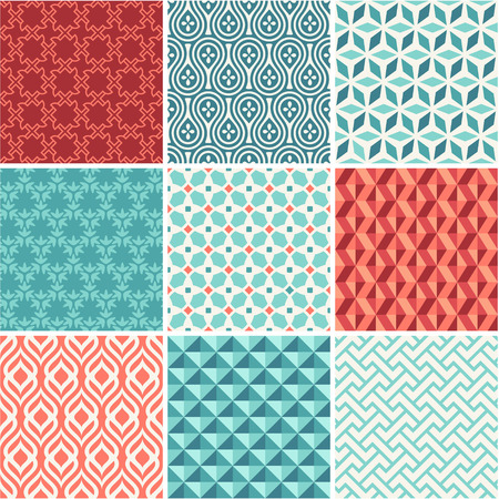 동양 원활한 패턴 컬렉션