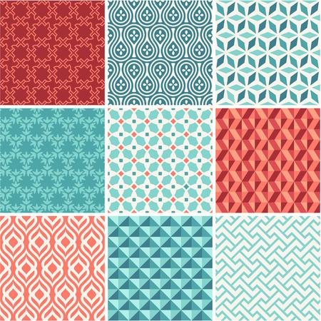 ligature: Oriental seamless pattern collection Illustration