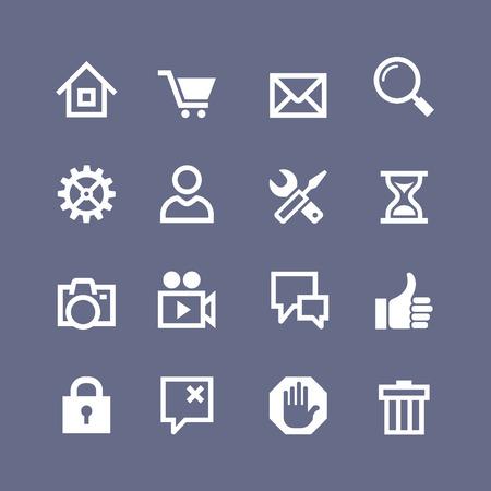 Set basic web icons Vector