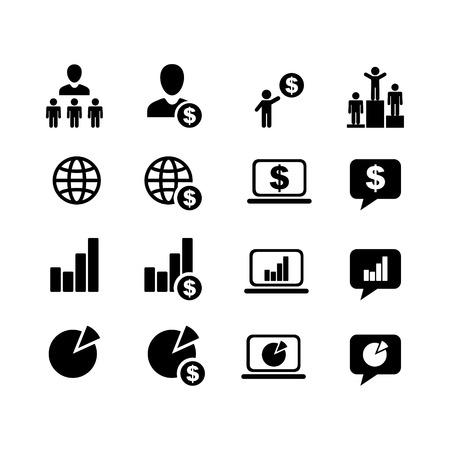 multilevel: Business Pictogram. Set web icon