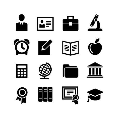 Set 16 education icons Illustration