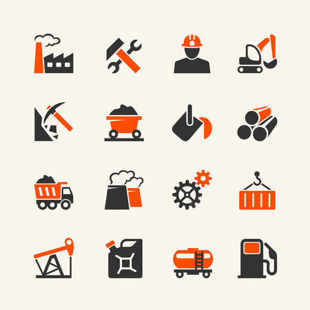 industrial industry: Industrial web icon set