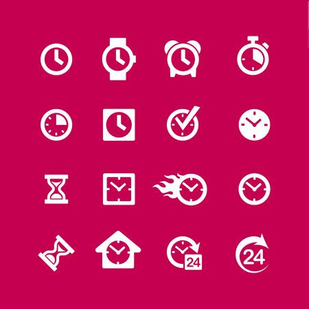 clock icon: Set 16 clock icons