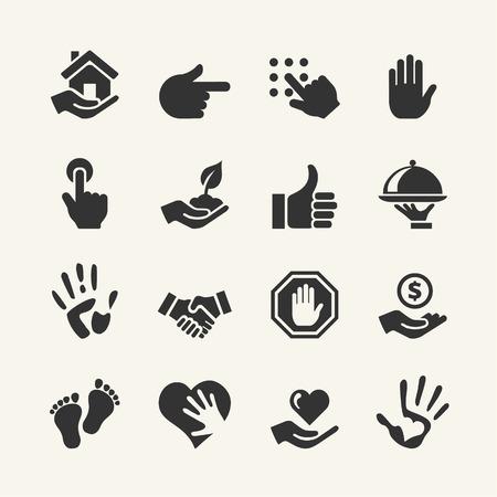 iconos: Conjunto de iconos Web - Mano