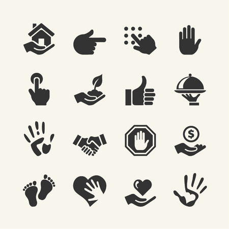hand up: Web icon set - Hand