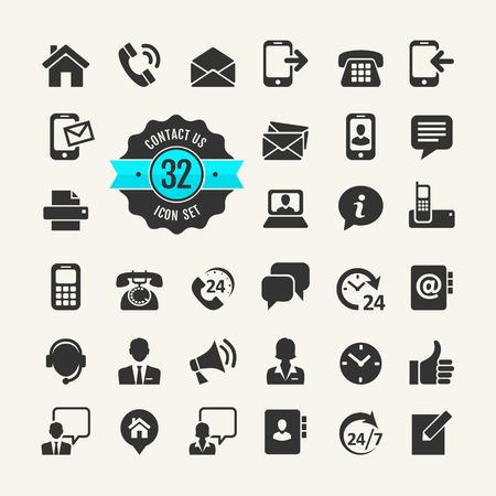 Zestaw ikon w sieci Web. Skontaktuj się z nami