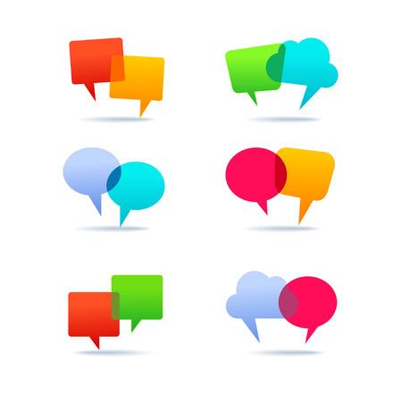 speak bubble: Set of speech bubbles