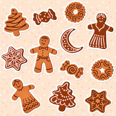 christmas cookies: Christmas cookies collection Illustration