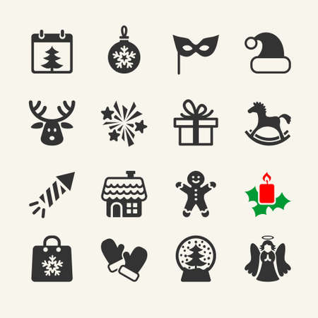 angel tree: Christmas Icons collection. Vector