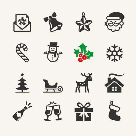 christmas sleigh: Christmas Icons collection. Vector