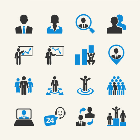 employee development: Business People - web icon collection Illustration