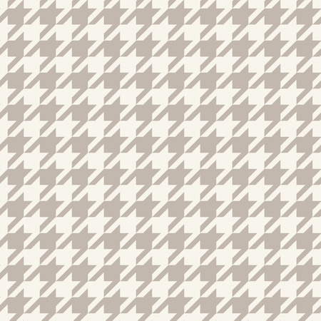 Pied de Poule checks. Hounds-tooth seamless vector pattern Çizim