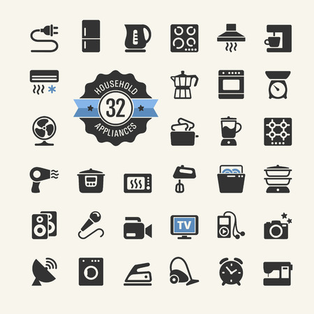 freezer: Web icon collection - household appliances